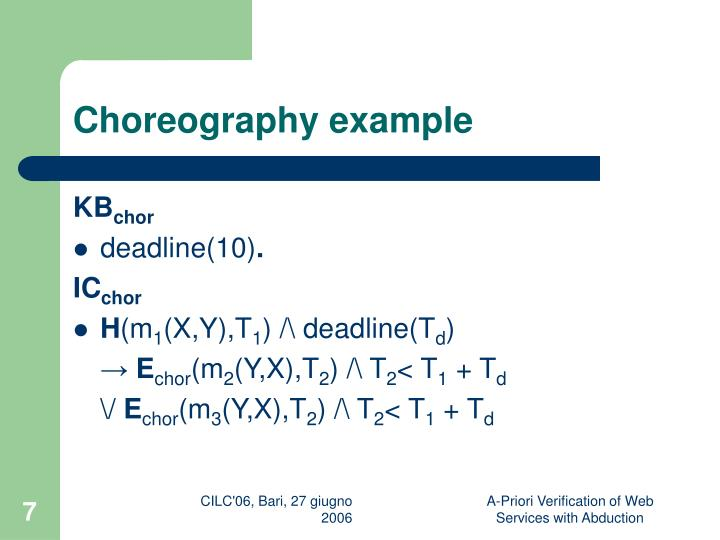 Choreography example