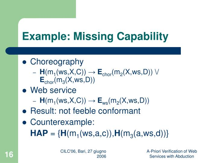 Example: Missing Capability