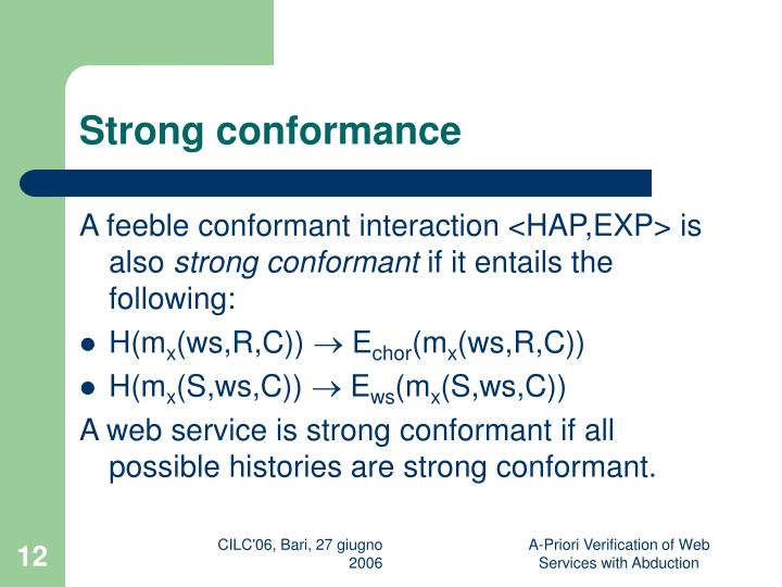 Strong conformance