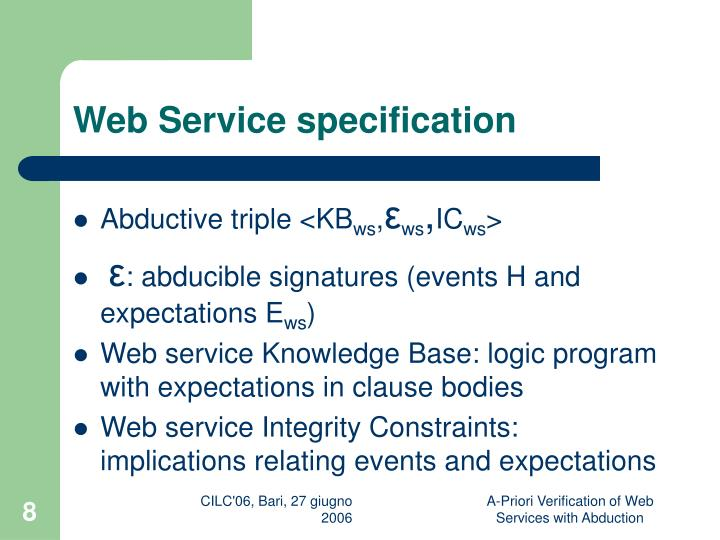 Web Service specification