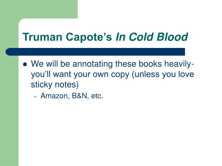 Truman Capote's