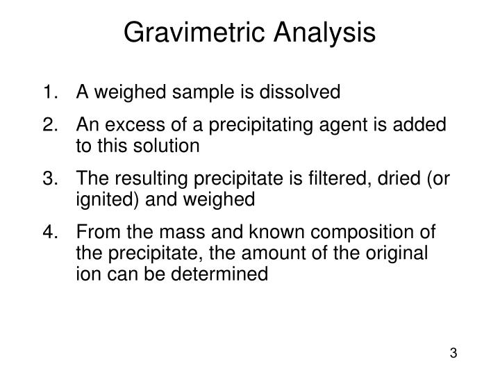 Gravimetric analysis2