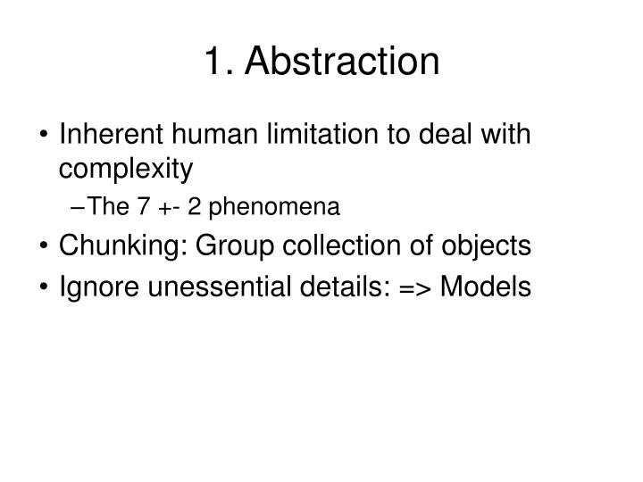 1. Abstraction