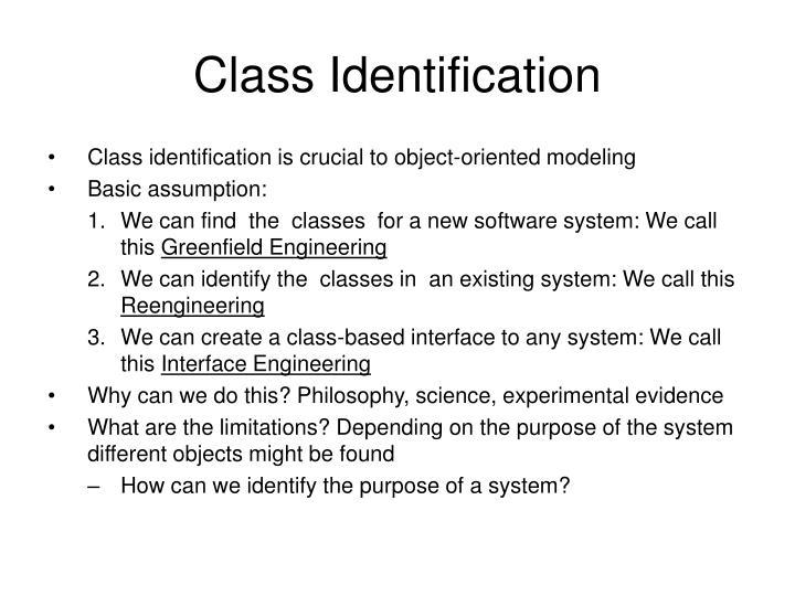 Class Identification