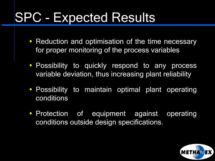 SPC - Expected Results