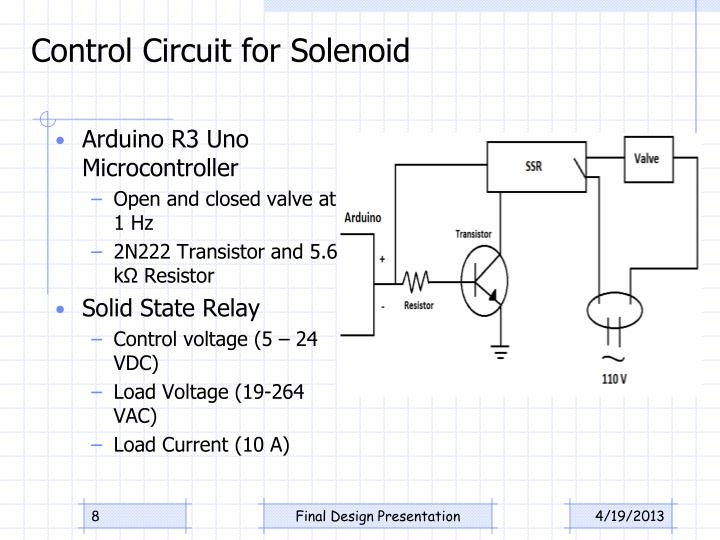 Control Circuit for Solenoid