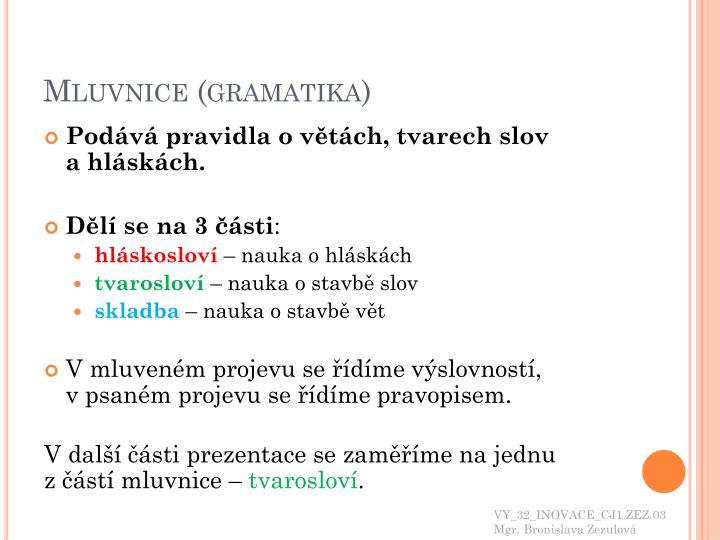 Mluvnice (gramatika)