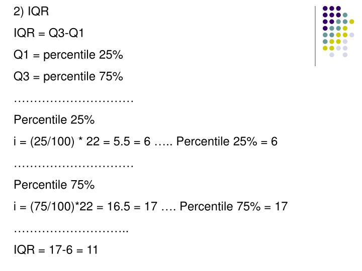 2) IQR