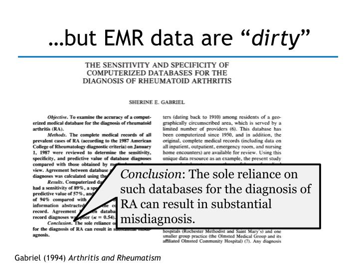 …but EMR data are ""
