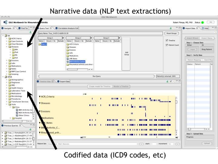 Narrative data (NLP text extractions)