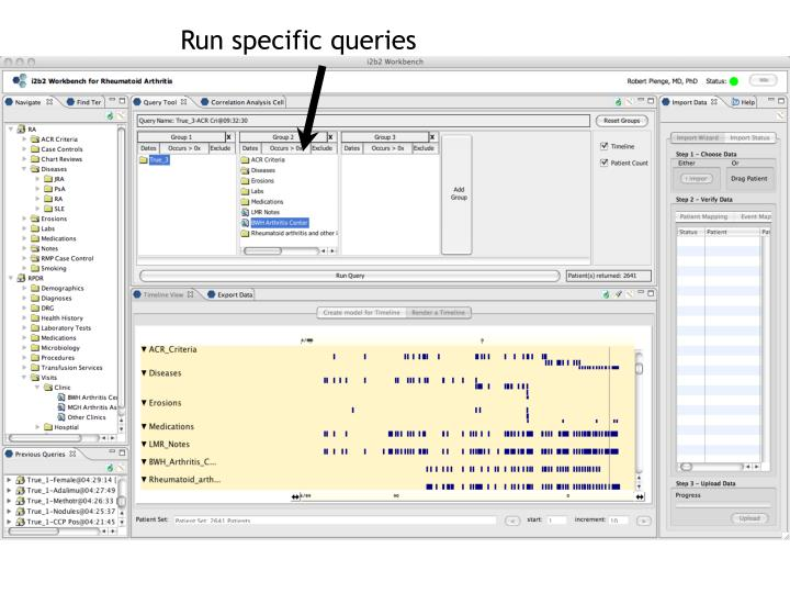 Run specific queries