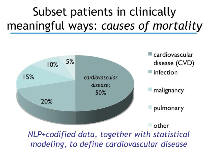 Subset patients in clinically meaningful ways: