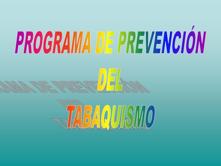 PROGRAMA DE PREVENCIÓN