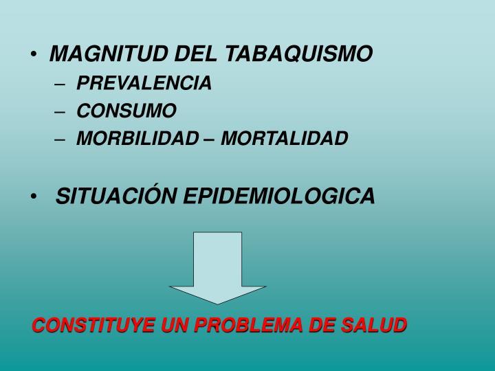 MAGNITUD DEL TABAQUISMO