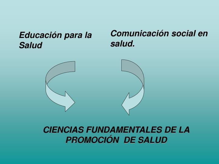 Comunicación social en salud.