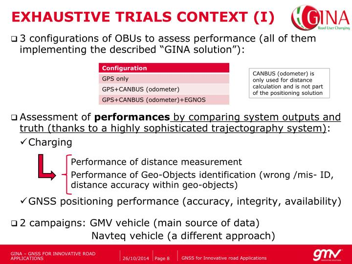 EXHAUSTIVE TRIALS CONTEXT (I)