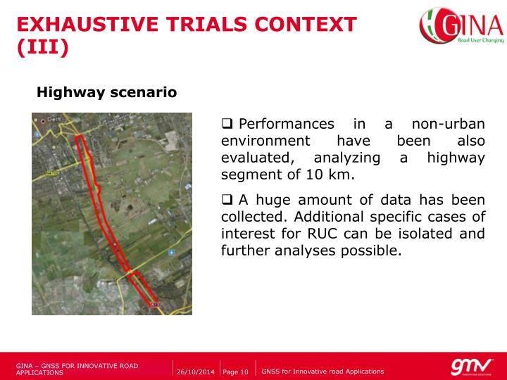 EXHAUSTIVE TRIALS CONTEXT (III)