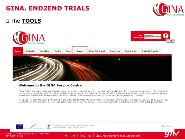 GINA. END2END TRIALS