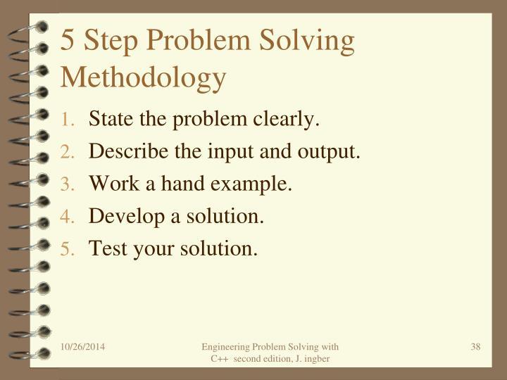 5 Step Problem Solving Methodology