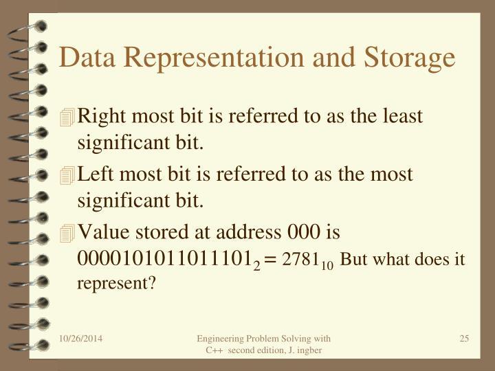 Data Representation and Storage