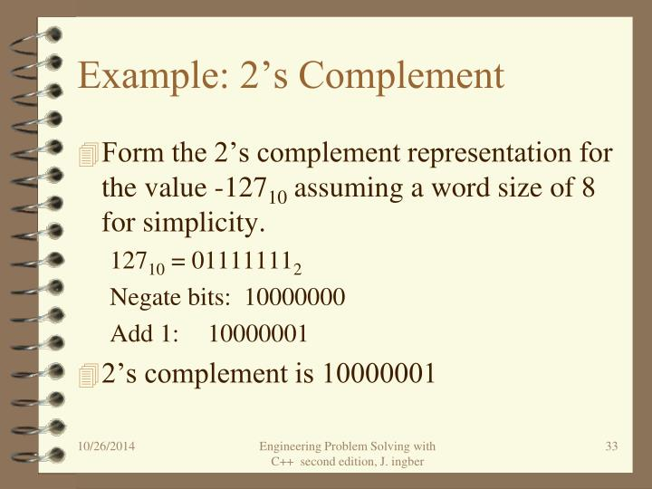 Example: 2's Complement