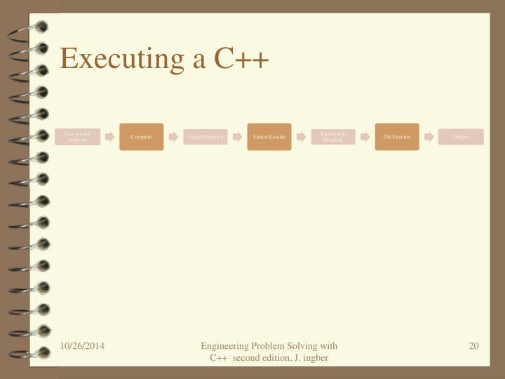 Executing a C++