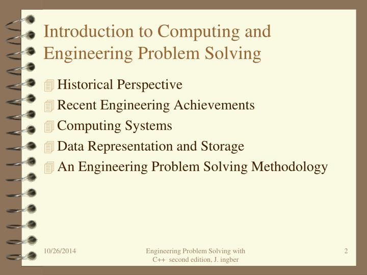Introduction to computing and engineering problem solving