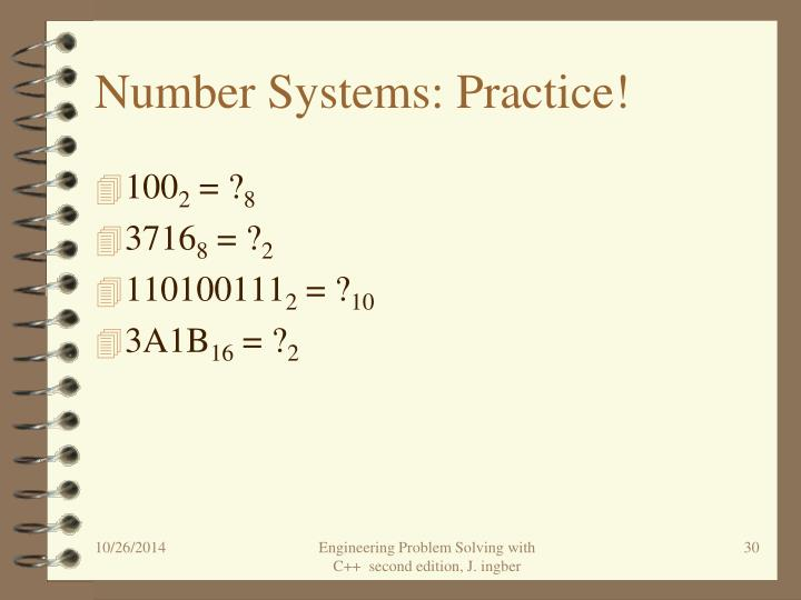 Number Systems: Practice!