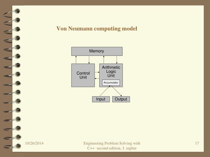 Von Neumann computing model