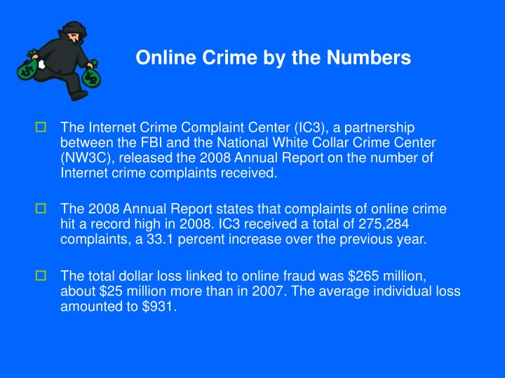Online crime by the numbers
