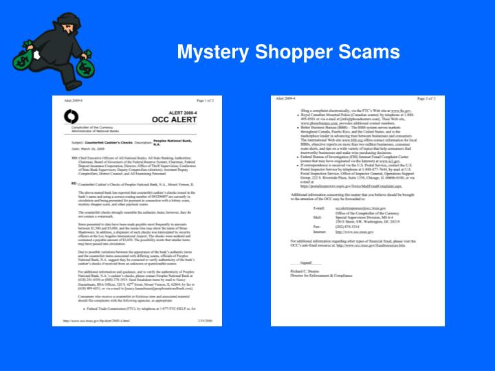 Mystery Shopper Scams