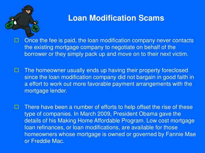 Loan Modification Scams