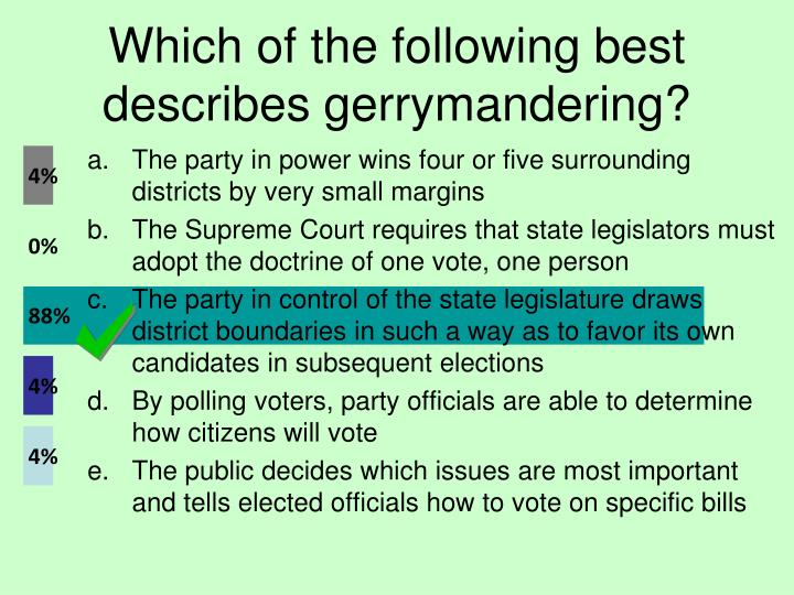 Which of the following best describes gerrymandering?