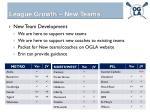 league growth new teams