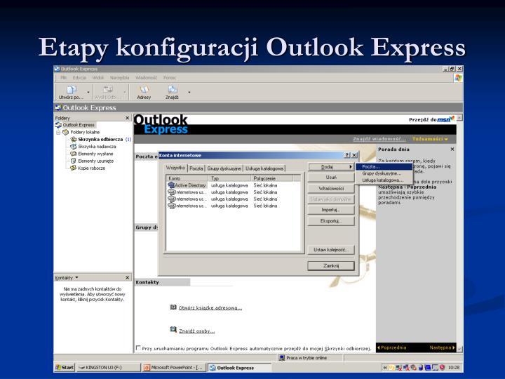 Etapy konfiguracji Outlook Express