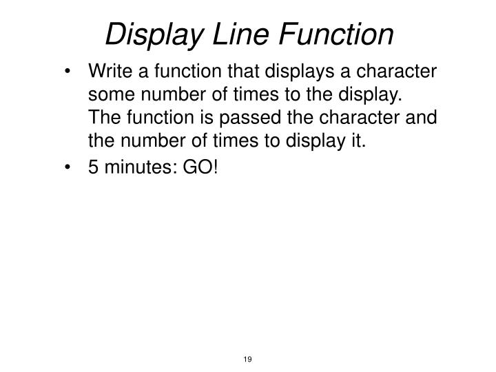 Display Line Function