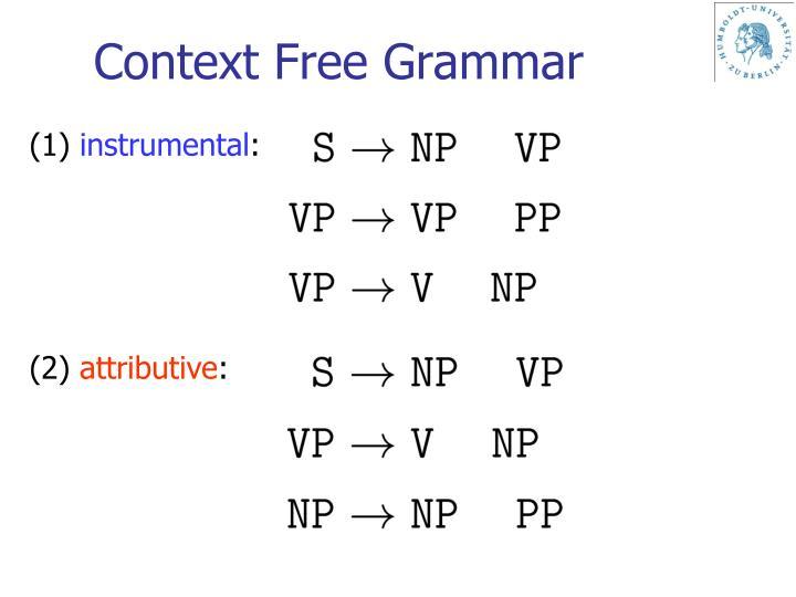 Context Free Grammar