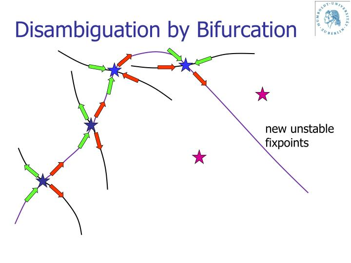 Disambiguation by Bifurcation