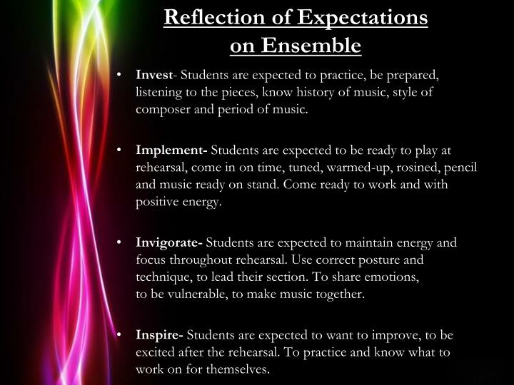 Reflection of Expectations