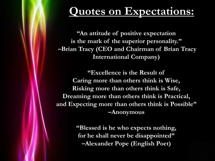 Quotes on Expectations: