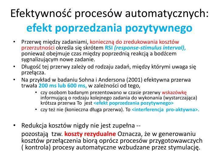 Efektywność procesów automatycznych: