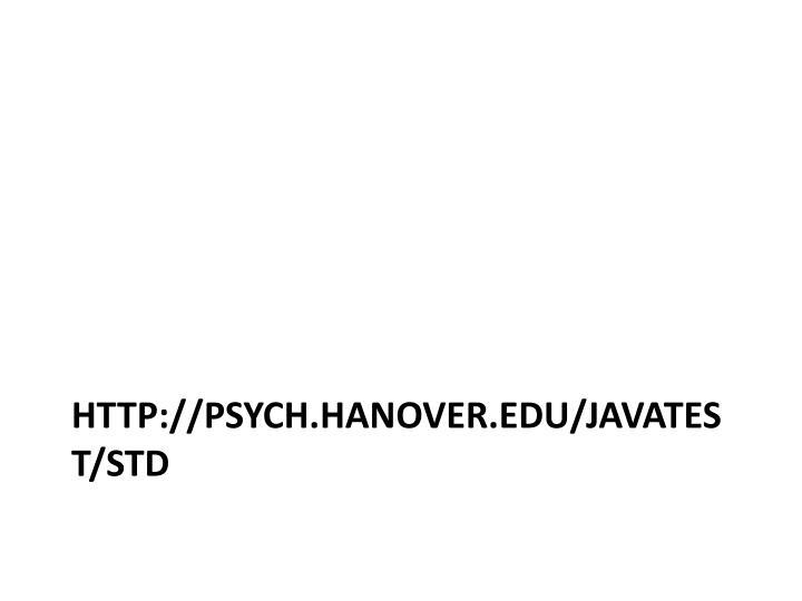 http://psych.hanover.edu/JavaTest/STD