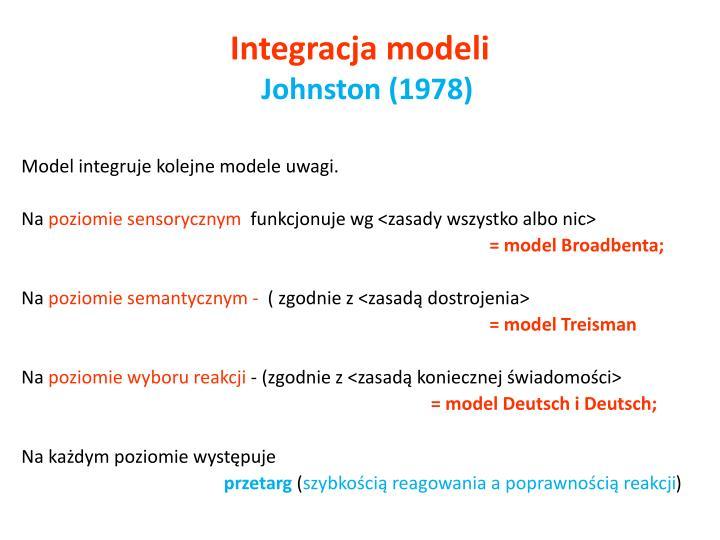 Integracja modeli