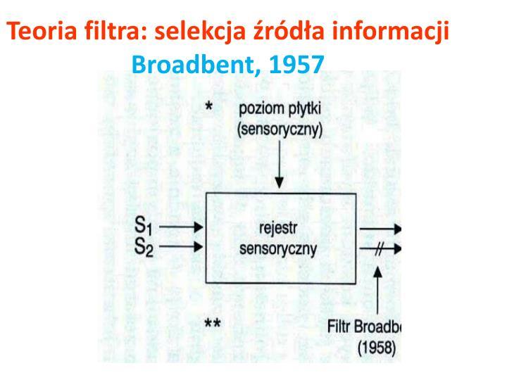 Teoria filtra: selekcja źródła informacji