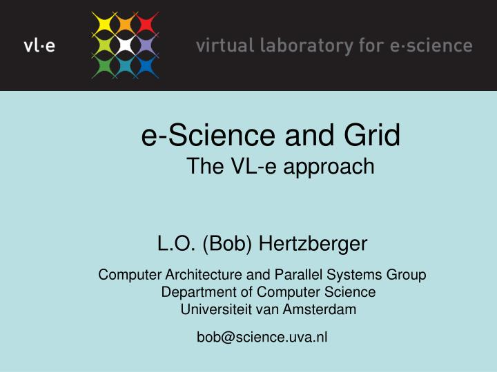 E-Science and Grid