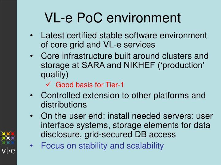 VL-e PoC environment