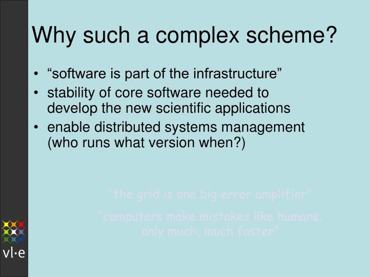 Why such a complex scheme?