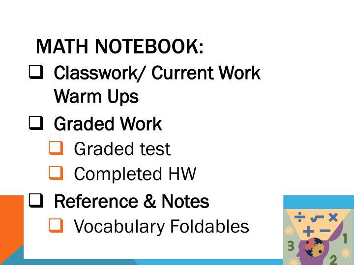 Math Notebook: