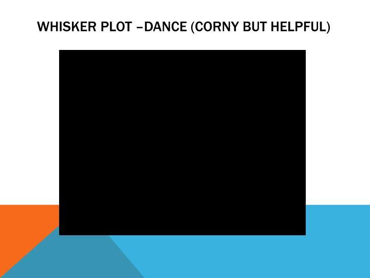 Whisker Plot –Dance (corny but helpful)