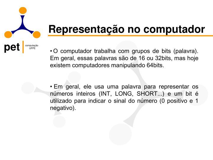 Representação no computador